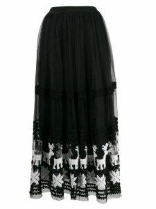 Pinko tulle maxi skirt - Black
