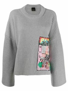 Pinko sequin embroidered jumper - Grey