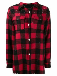 Pinko embellished check print shirt - Red
