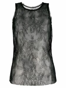 Pinko sleeveless lace top - Black