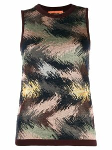 Missoni sleeveless knitted top - Brown