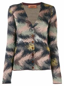 Missoni patterned V-neck cardigan - Brown