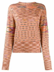 Missoni striped pattern jumper - ORANGE