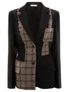 JW Anderson patchwork tailored wool jacket - Black