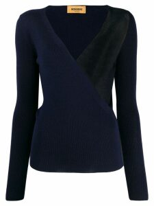 Missoni wrap style front jumper - Blue