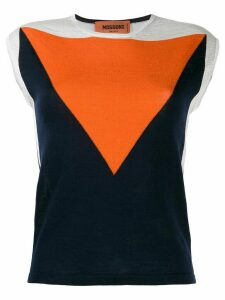 Missoni colour block knitted top - Blue