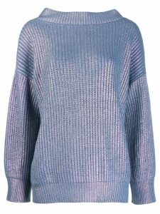 Pinko oversized metallic jumper - Blue