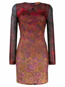 Missoni chevron-print dress - Red