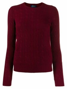Polo Ralph Lauren cable-knit fitted sweater - Red