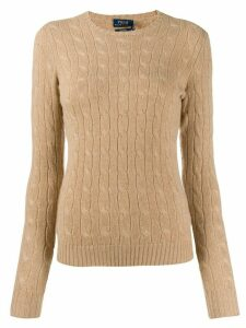 Polo Ralph Lauren fitted cable-knit sweater - Brown