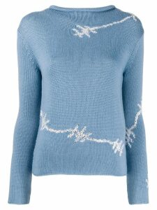 Ermanno Scervino barbed wire sweatshirt - Blue