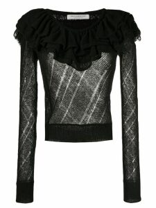 Philosophy Di Lorenzo Serafini ruffled neck sweater - Black