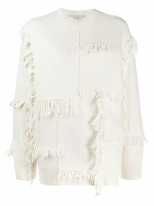 Stella McCartney fringed sweater - White