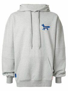 Ader Error Maison Kitsuné x Ader error fox hoodie - Grey