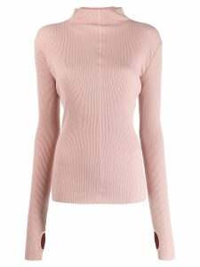 Helmut Lang ribbed-knit jumper - PINK