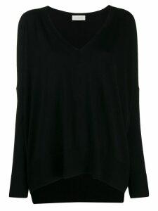 Zanone oversized long-sleeve sweater - Black