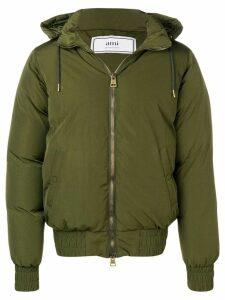 Ami Paris Hooded Down Jacket - Green