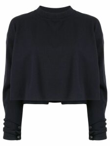 System loose-fit cropped sweatshirt - Blue