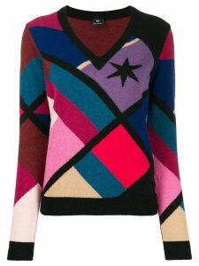 PS Paul Smith v-neck geometric sweatshirt - Black