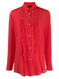Jejia ruffle long-sleeve blouse - Red