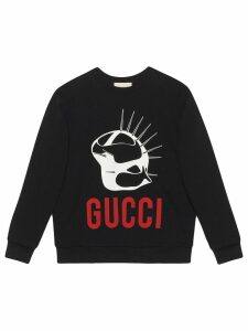 Gucci Manifesto oversized sweatshirt - Black