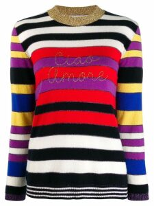Giada Benincasa stripe print jumper - Red