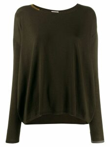 Apuntob contrast trim jumper - Brown