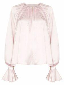 Roksanda Pia draped silk blouse - PINK