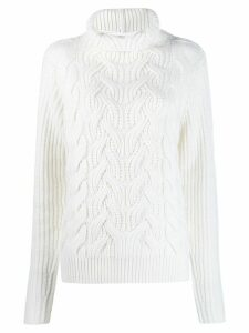Helmut Lang cable-knit jumper - White