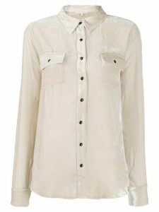 Gold Hawk velveteen utility shirt - NEUTRALS
