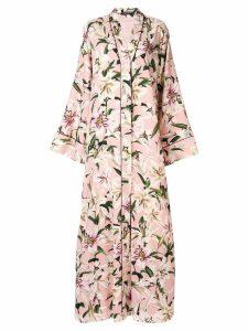 Dolce & Gabbana printed lilies kimono dress - Pink