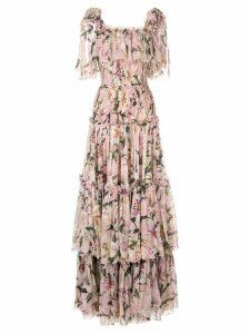 Dolce & Gabbana layered lilies dress - PINK