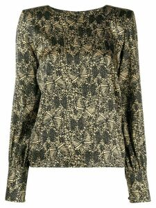 Federica Tosi abstract print blouse - Black