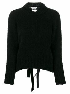 Cecilie Bahnsen open back knitted jumper - Black