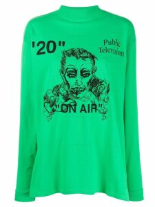 Off-White Public Television top - Green