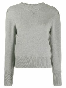 Isabel Marant Étoile puff sleeve knitted top - Grey