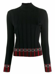 Marni ribbed roll neck jumper - Black