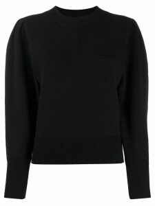 Isabel Marant Étoile puff sleeve knitted top - Black