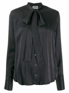 Balossa White Shirt tied neckline blouse - Black