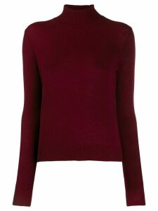 Theory ribbed turtle neck jumper - Red