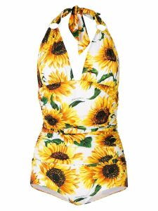 Dolce & Gabbana deep V-neck one piece - Yellow