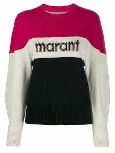Isabel Marant Étoile logo print jumper - PINK