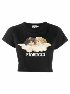 Fiorucci Vintage Angels cropped top - Black