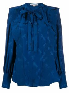 Stella McCartney ruffle horse shirt - Blue