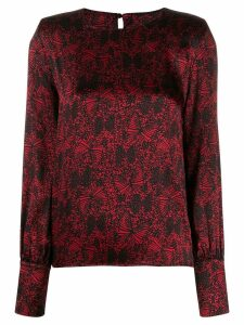Federica Tosi butterfly print blouse - Black