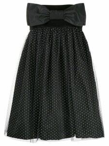 Brognano strapless flared dress - Black