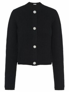 Miu Miu embellished buttons cardigan - Black