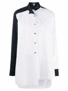 Loewe two tone asymmetric shirt - White