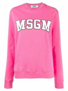MSGM varsity logo sweatshirt - PINK