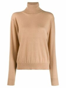 Laneus roll neck jumper - Brown